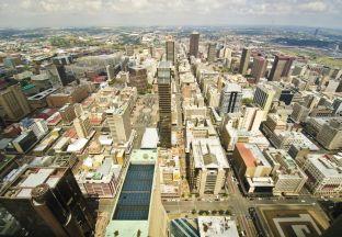 Cityscape Johannesburg Flughafen